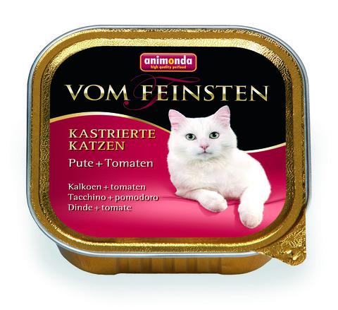 Консервы Animonda Vom Feinsten For Castrated Cats с индейкой и томатами для кастрированных кошек