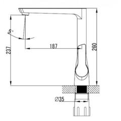 Смеситель KAISER Atrio 60144 для кухни схема