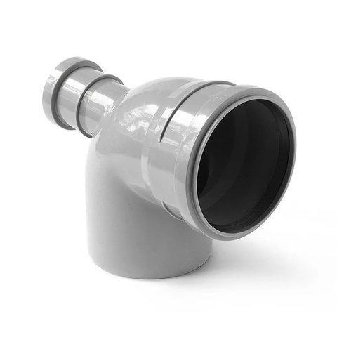 Отвод кан.110*90 с фронтальным выходом D50
