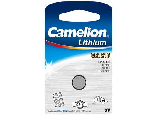Батарейки литиевые Camelion CR 1216 / 1 BL