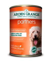 Arden Grange Partners консервы для собак с Курицей и рисом 395 г