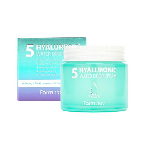 Суперувлажняющий крем для лица с гиалуроновым комплексом Farm Stay Hyaluronic 5 Water Drop Cream