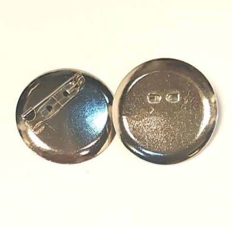 Основа для броши - диск 36 мм платина