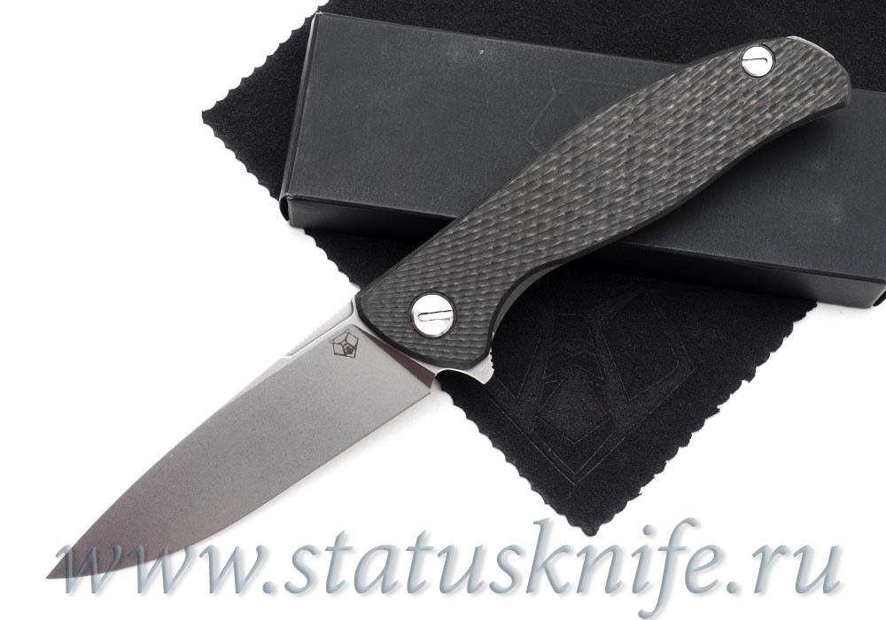 Нож Широгоров Хати S90V Выборки Карбон