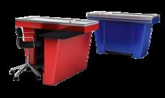Stream-Mini-Light-150 кассовый бокс с тумбочкой, синий