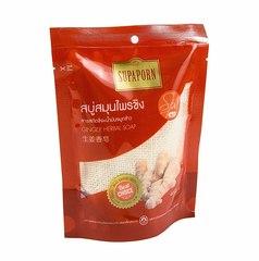 Мыло с экстрактом Имбиря и маслом рисовых отрубей, СПА-серия, 70 гр., Supaporn