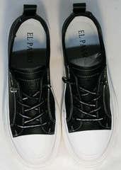 Легкие летние туфли кроссовки женские El Passo sy9002-2 Sport Black-White.