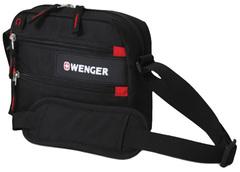 Сумка Wenger Horizontal Accessory Bag, для докум., черная/красная, 23х5х18 см