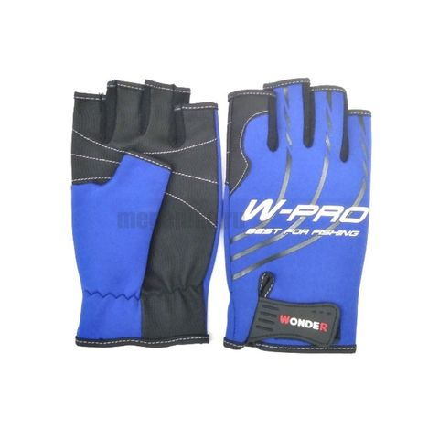 Перчатки Wonder синие без пальцев WG-FGL / размер М