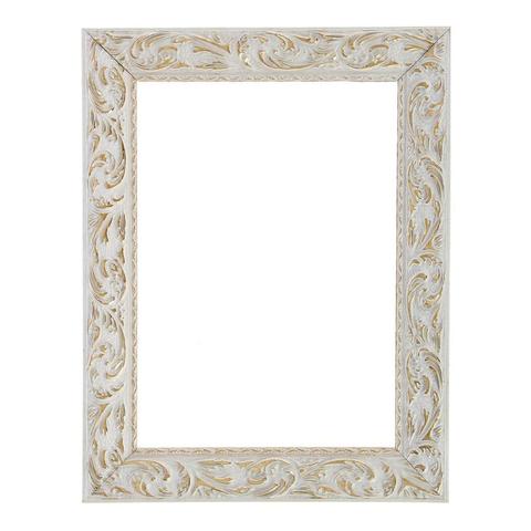 Рама для зеркал и картин 31х40х4 см, цвет бело-золотой