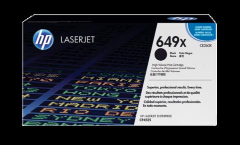 Оригинальный картридж HP CE260X (№649X), чёрный