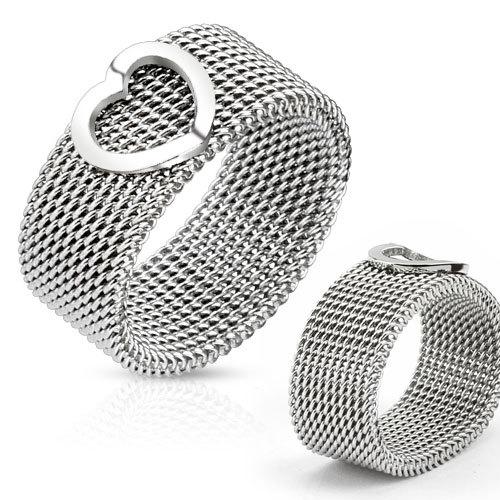 Кольцо мягкое женское из стали