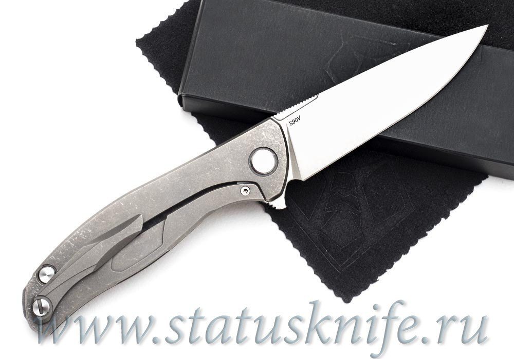 Нож Широгоров Хати S90V Выборки Карбон - фотография
