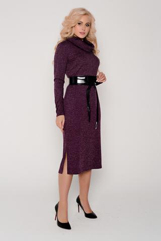 """<p>Шикарное платье из мягкого трикотажа. Длина """"миди"""". Ворот """"хомут"""". По бокам разрезы. Рукав длинный. Пояс в стоимость не входит, можно приобрести а разделе """"аксессуары"""". Длина платья: 46-48-111см,50-52-112см</p>"""