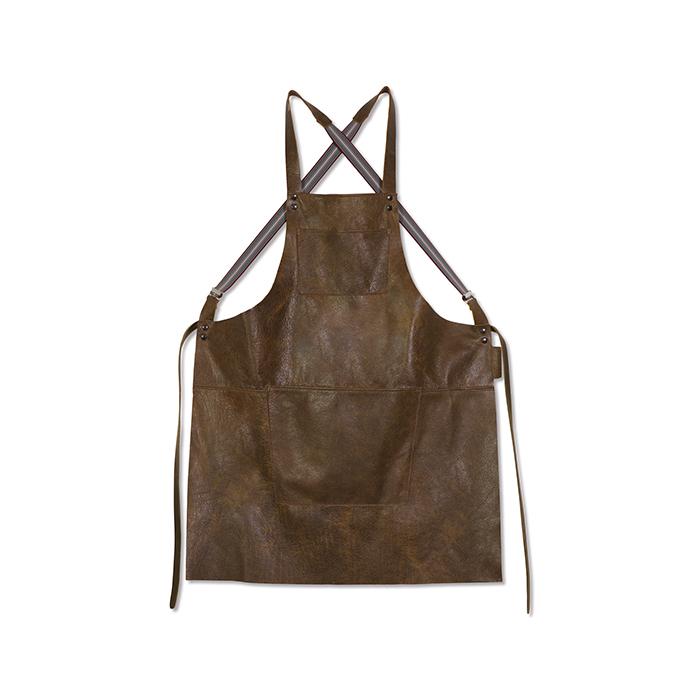 Фартук с подтяжками Suspender, кожа, Коричневый винтаж, арт. 552069 - фото 1