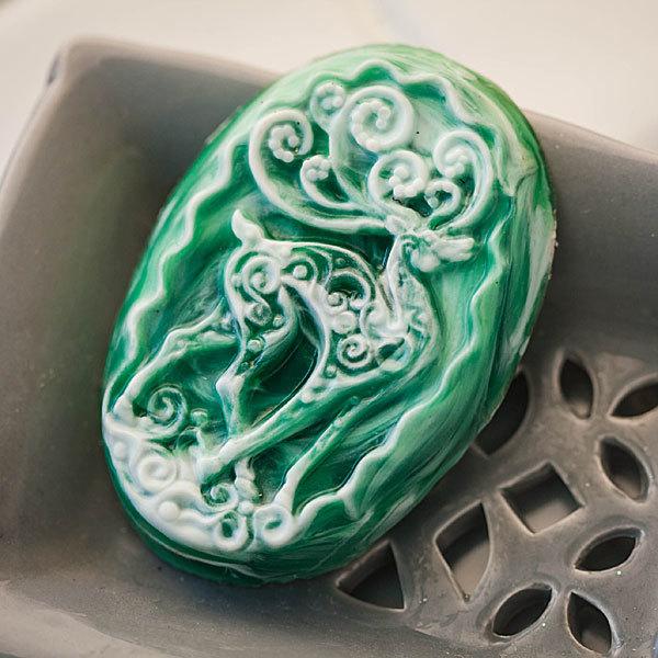 Мыло ручной работы Олень. Пластиковая форма