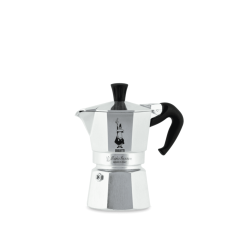 Bialetti Moka Express, Гейзерная кофеварка на 2 порции (Металлик)