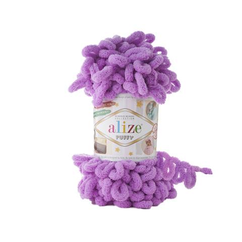 Купить Пряжа Alize Puffy Код цвета 378 Орхидея | Интернет-магазин пряжи «Пряха»
