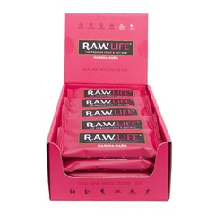Батончик натуральный R.A.W. LIFE Малина-Лайм коробка 20 шт.