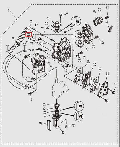 Шланг L200 для лодочного мотора T9.8 Sea-PRO (2-12)