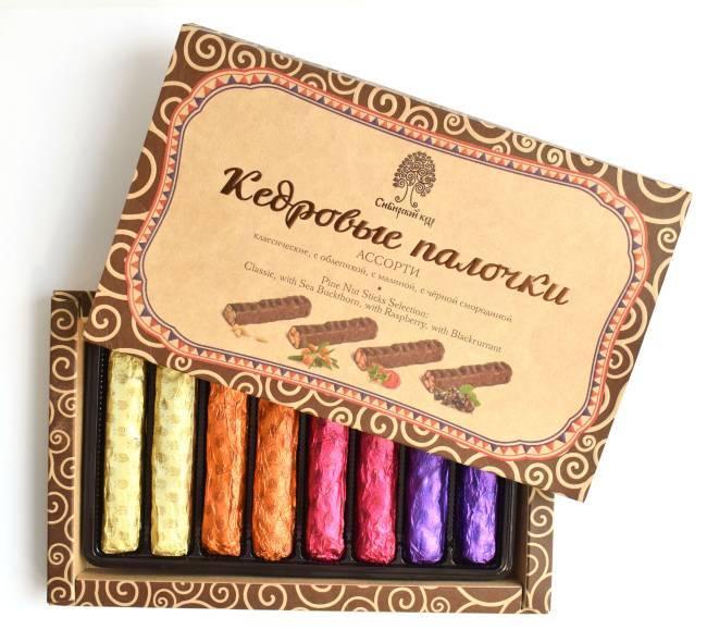Кедровые палочки в шоколадной глазури ассорти