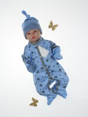 Комплект на выписку зимний Вязка голубой