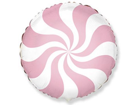 Фольгированный шар Леденец розовый пастель