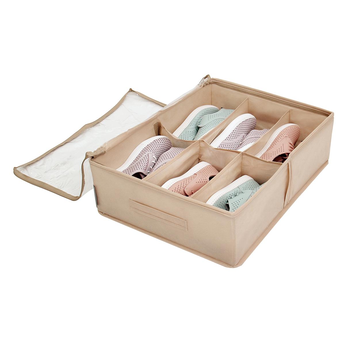 Кофр для обуви 53х40х15 см, 6 ячеек, Каир
