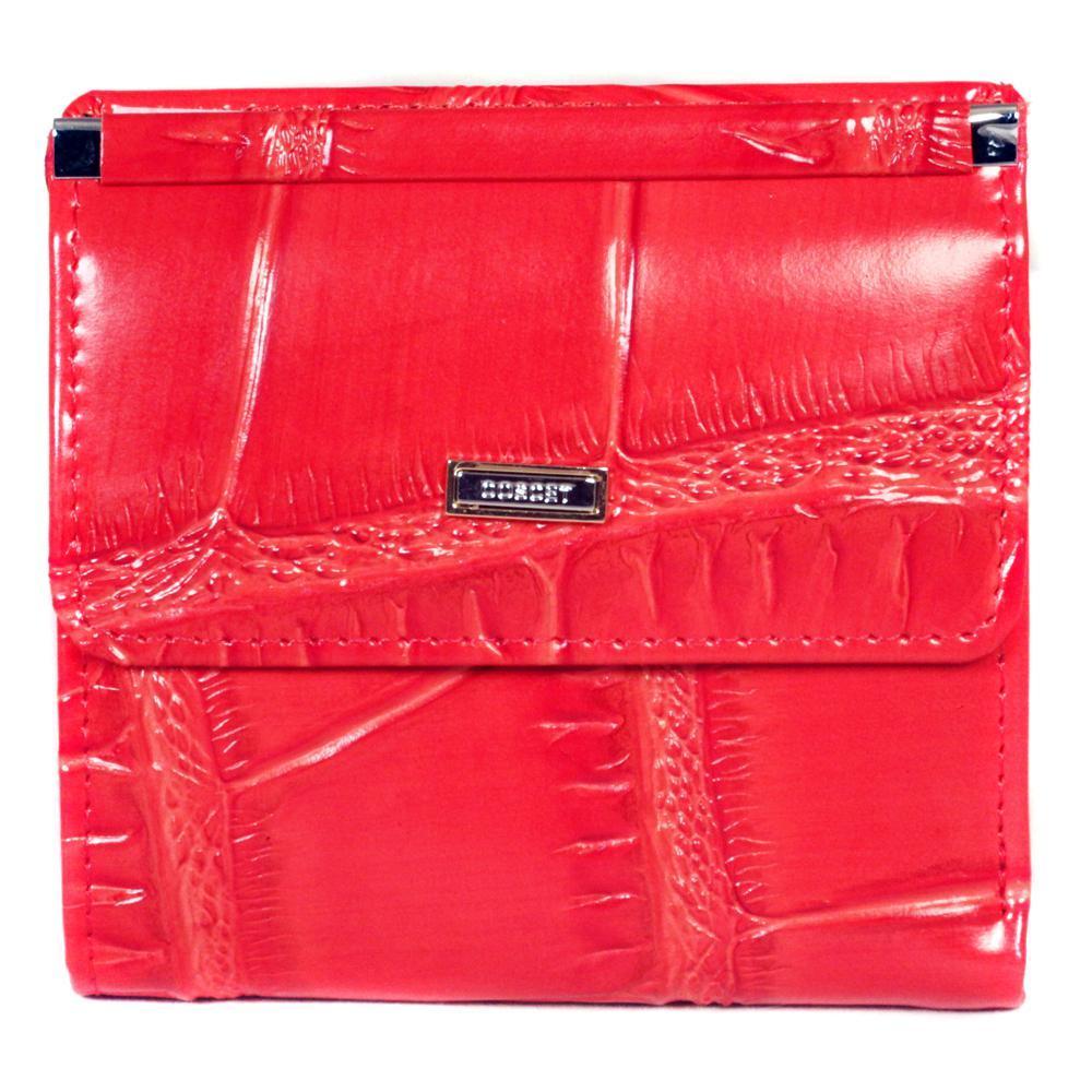 Маленький кошелёк красный женский Coscet нат.кожа CS25-108B