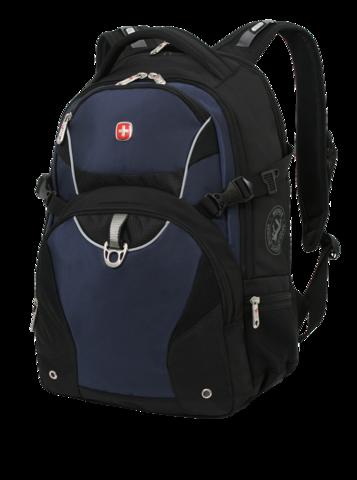 Рюкзак вместительный Wenger черный/синий
