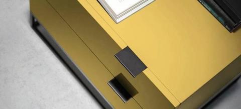 Прикроватная тумбочка Estetico желтая