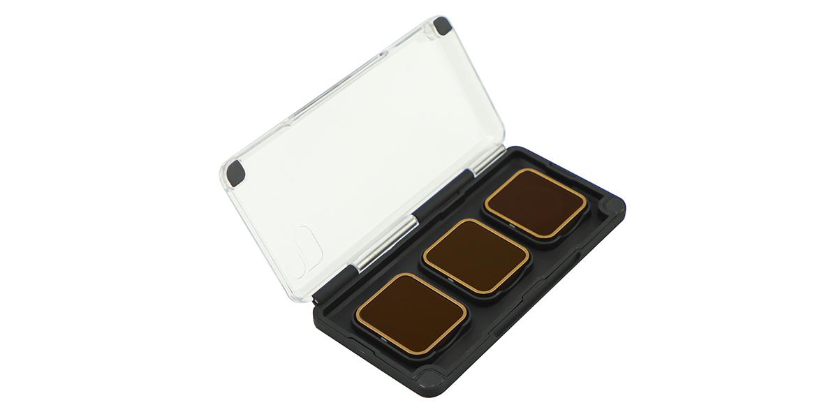 Набор фильтров PolarPro Cinema Series Filter 3-Pack в контейнере вид сбоку