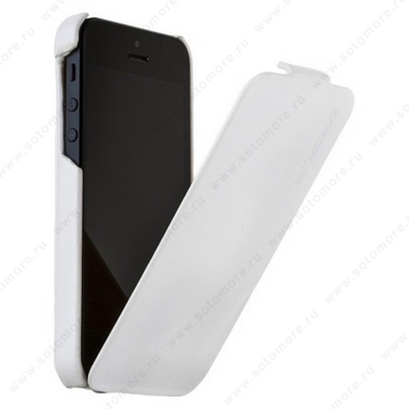 Чехол-флип Borofone для iPhone SE/ 5s/ 5C/ 5 - Borofone General flip Leather Case White