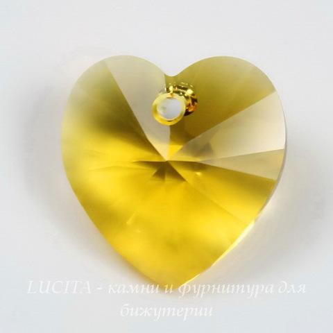 6228 Подвеска Сваровски Сердечко Sunflower (14,4х14 мм) ()