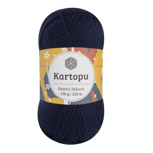 Пряжа Kartopu Bambu Sakura арт. 632 темно-синий
