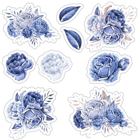 Печать на сахарной бумаге, Набор цветы 8