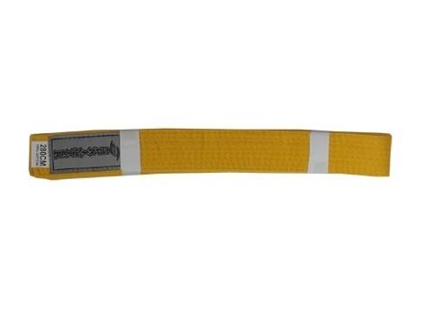Пояс карате 2,70 м, 100% хлопок. Цвет жёлтый.
