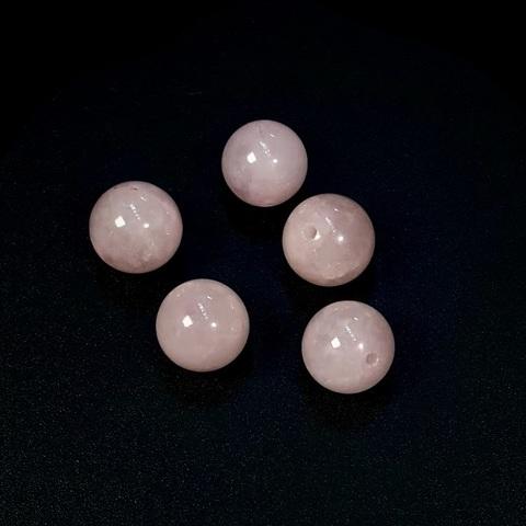 Бусины кварц розовый шар гладкий 10 мм