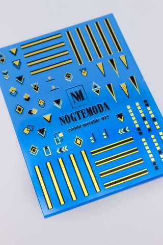 Наклейки NogteModa COMBI METALLIC 015