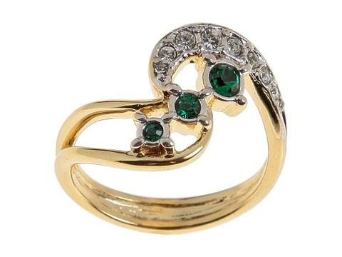 Кольцо с позолотой Флерт