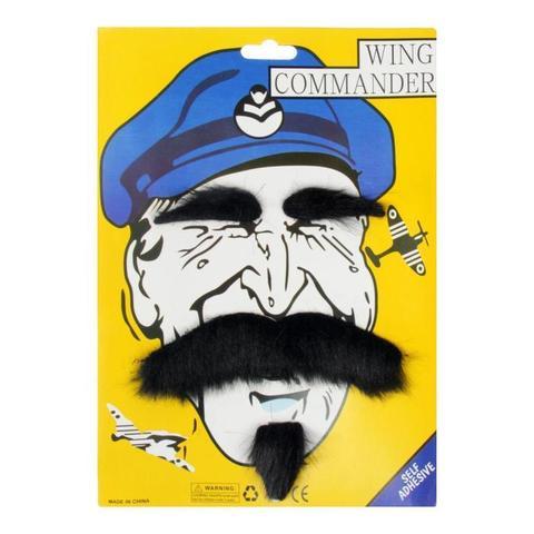 Карнавальные усы с бровями и бородой