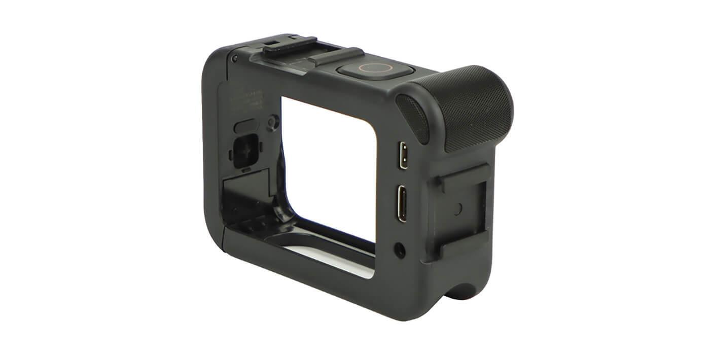 Медиамодуль с микрофоном и HDMI для GoPro HERO8 (AJFMD-001) вид сзади