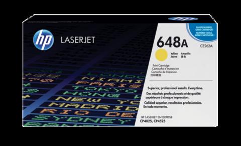 Оригинальный картридж HP CE262A (№648A), жёлтый