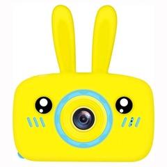 детский цифровой фотоаппарат zoo kids зайчик силиконовый желтый