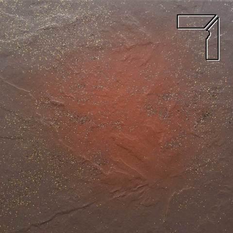 Ceramika Paradyz - Semir Brown, 300x81x11, артикул 5226 - Цоколь правый структурный 2-х элементный