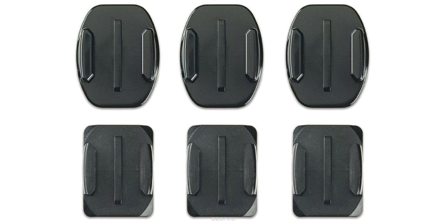 Набор плоских и изогнутых клеящихся платформ GoPro Flat + Curved Adhesive Mounts (AACFT-001) комплектация