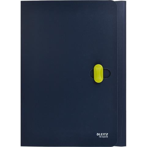 Папка с застежкой Leitz ReCycle А4 пластиковая синяя (0.65 мм, до 150 листов)