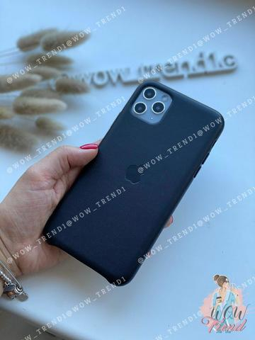 Чехол iPhone 11 good Leather Case /black/