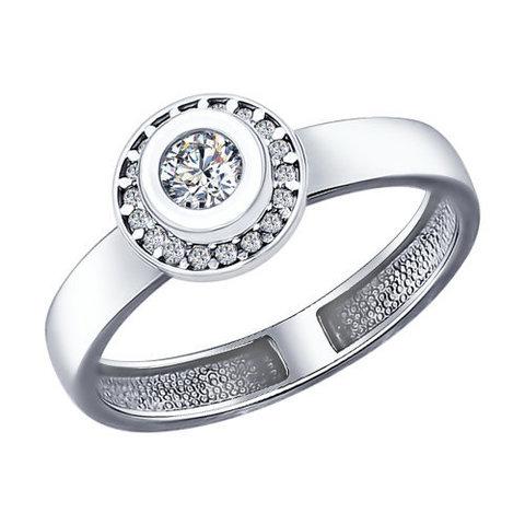 94011961-Кольцо из серебра с фианитами