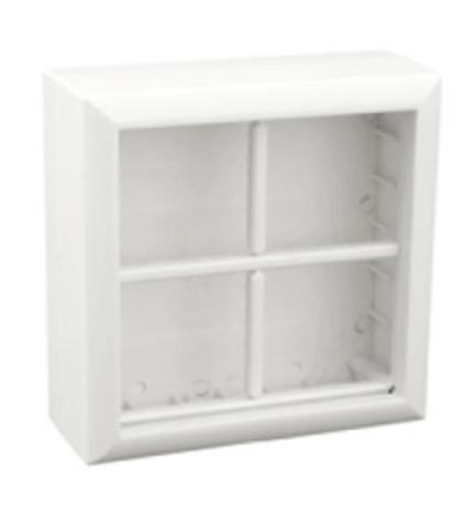 SM45/8 Коробка для открытой проводки на 4 поста 45х45 мм. Цвет Белый. Ecoplast (ЭКОПЛАСТ). 72948